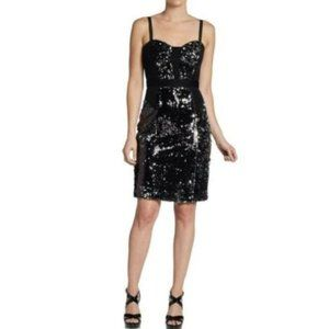 Milly Charise Black Sequin Dress  10